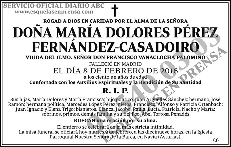 María Dolores Pérez Fernández-Casadorio